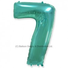 Jumbo Number 7 Balloon - Mint Green