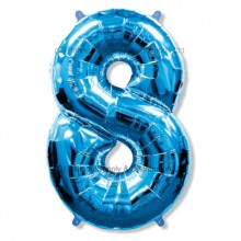 Jumbo Number 8 Balloon - Blue