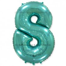 Jumbo Number 8 Balloon - Mint Green