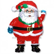 Jumbo Christmas Santa Glasses Shape Balloon