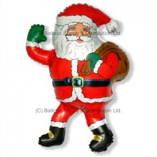 Jumbo Christmas Santa Greetings Shape Balloon