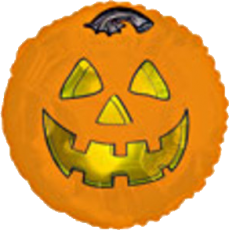 "17"" Halloween Pumpkin Fun Balloon"