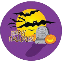 "17"" Halloween Moon & Bats Balloon - SOLD OUT, DISCONTINUED."