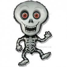XL Jumbo Skeleton (Grey) Balloon