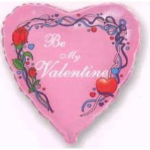 "18"" Be My Valentine Pink Balloon"