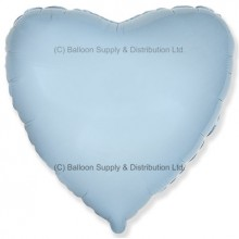 "32"" Decor Pastel Blue Heart Balloon"