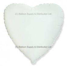 "18"" Decor White Heart Balloon"