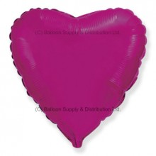 "18"" Decor Pink Heart Balloon (Fushsia)"