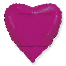 "9"" Mini Decor Dark Pink (FM Purple) Heart Balloon"