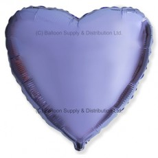 "18"" Decor Metallic Lilac Heart Balloon"