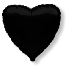 "18"" Decor Black Heart Balloon"