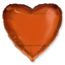 "18"" Decor Metallic Orange Heart Balloon"