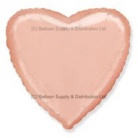 "18"" Decor Rose Gold Heart Balloon"