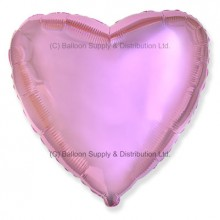 "18"" Decor Metallic Light Pink Heart Balloon"