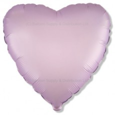 "18"" Decor Satin Pastel Lilac Heart Balloon"