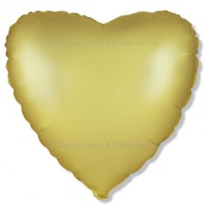"18"" Decor Satin Pastel Gold Heart Balloon"