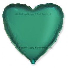 "18"" Decor Metallic Turquoise Heart Balloon"