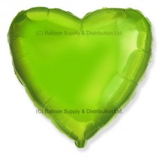 "18"" Decor Lime Green Heart Balloon"