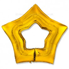 "32"" Ultra Gold Cutout Star Balloon"