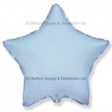 "32"" Decor Pastel Blue Star Balloon"