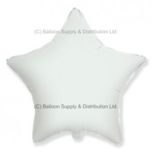 "18"" Decor White Star Balloon"