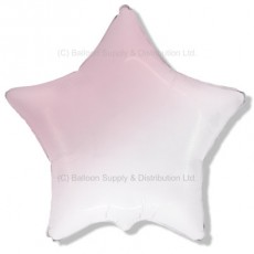 "32"" Ultra Decor Gradient White to Baby Pink Star Balloon"