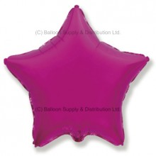 "18"" Decor Pink Star Balloon (Fushsia)"