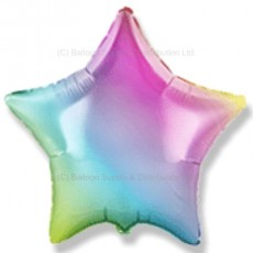 "32"" Decor Gradient Pastel Rainbow Star Balloon"