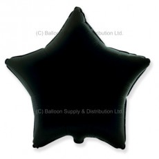 "18"" Decor Black Star Balloon"