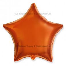 "18"" Decor Metallic Orange Star Balloon"