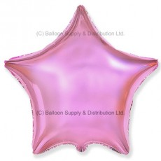 "18"" Decor Metallic Light Pink Star Balloon"