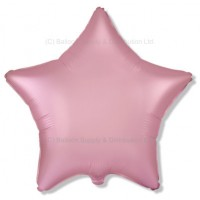 "18"" Decor Satin Pastel Pink Star Balloon"