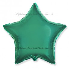 "18"" Decor Metallic Turquoise Star Balloon"