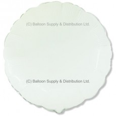 "18"" Decor White Round Balloon"