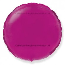 "18"" Decor Pink Round Balloon (Fushsia)"
