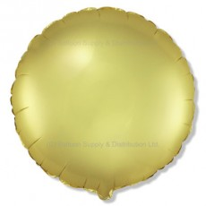 "18"" Decor Satin Pastel Gold Round Balloon"