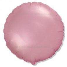 "18"" Decor Satin Pastel Pink Round Balloon"