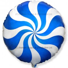 "18"" Decor Blue Candy Swirl Balloon"