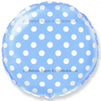 "18"" Decor Pastel Blue Polka Dot Balloon"