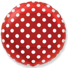 "18"" Decor Red Polka Dot Balloon"
