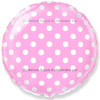 "18"" Decor Pastel Pink Polka Dot Balloon"