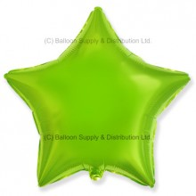 "18"" Decor Lime Green Star Balloon"