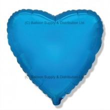"18"" Decor Blue Heart Balloon"