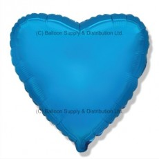 "32"" Decor Blue Heart Balloon"