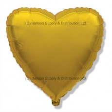 "4"" Micro Decor Gold Heart Balloon"