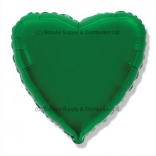 "32"" Decor Green Heart Balloon"