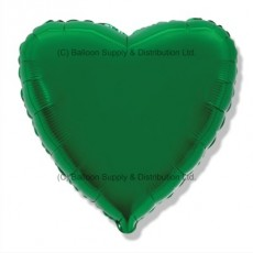"9"" Mini Decor Green Heart Balloon"