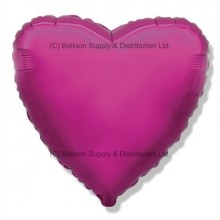 "18"" Decor Dark Pink (FM Purple) Heart Balloon"