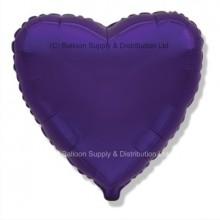 "18"" Decor Regal Purple (FM Violet) Heart Balloon"