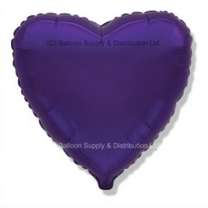 "32"" Decor Regal Purple (FM Violet) Heart Balloon"